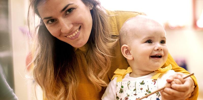 Lactancia materna y el cuidado infantil class image